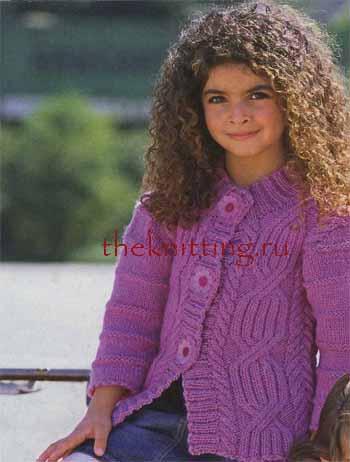 Жакет для девочки вязание