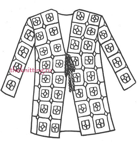 Вязание ажурного кардигана со схемами