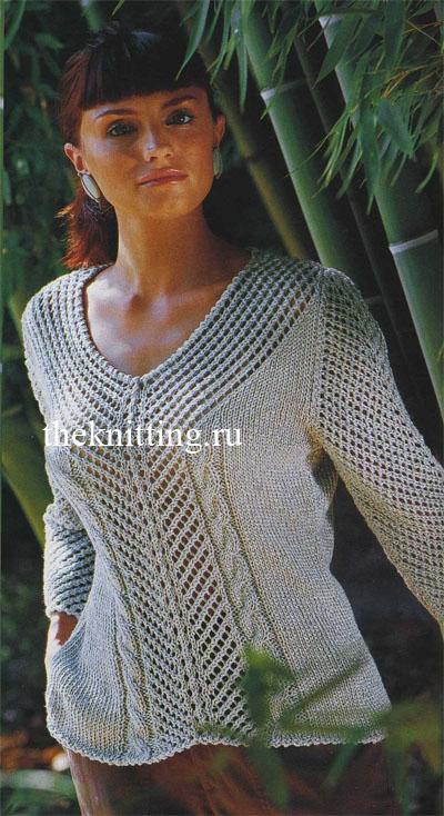 Женские свитера, вязаные