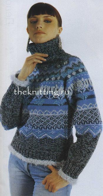 Вязание спицами свитера женские в