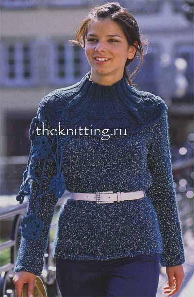 Связать свитер меланжевой пряжей
