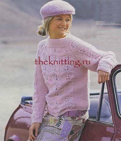 Описание: рукав реглан Вязание