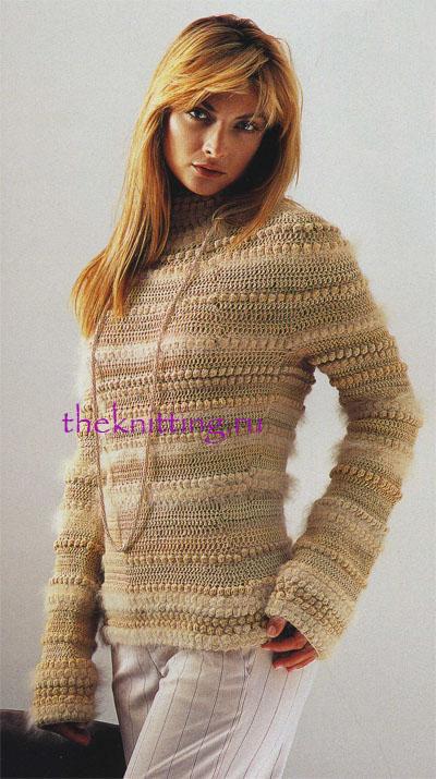 Мужской свитер с рельефным узором