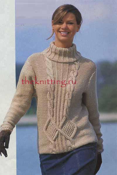 схема вязания полувера со спущенным плечом на девочку спицами - Модные майки!