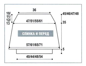 Схема вязания простого топа