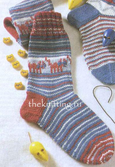 Схемы вязанных носков детских на один год