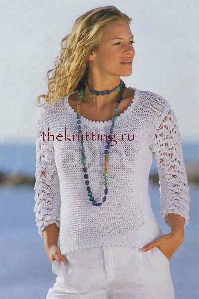 Схемы вязания пуловеров