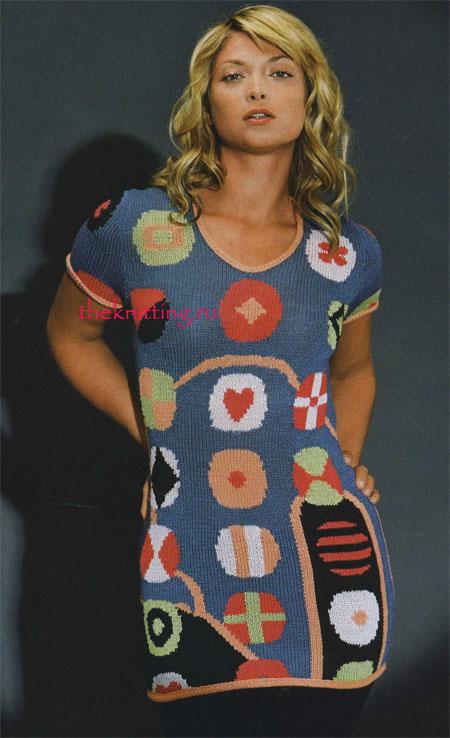 спицами туники, Вязание платья