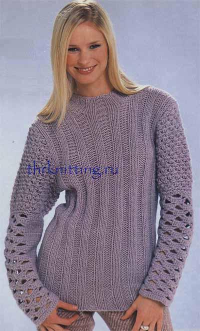 Схема ажурного пуловера: Схемы