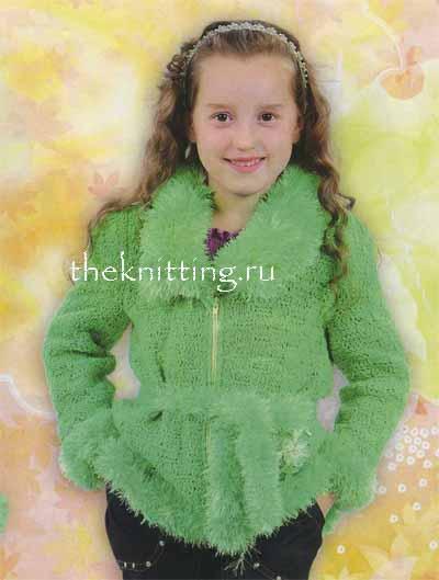 Вязание кардиганов для девочек