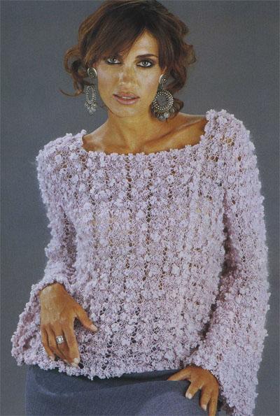 Вязание спицами свитера для