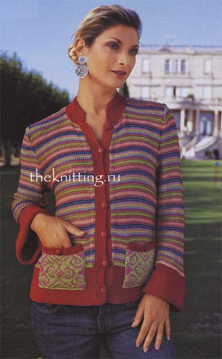 Вязание модели кардиганов