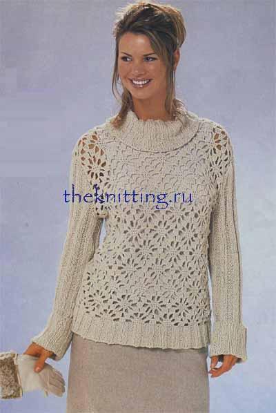 Схема вязания свитера крючком.