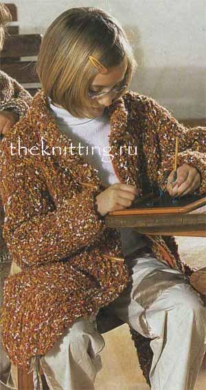 Я. Вязаные пальто и кардиганы, вязание спицами платья\- туники