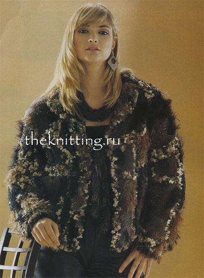 Описание: Описание: Вязание крючком, вязание спицами, схемы вязания - пальто.