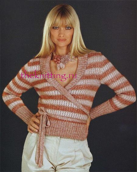 Описание: Вязание спицами ажурные кофты.
