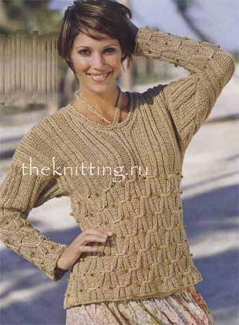 Схемы вязания. Платье из мохера- схема