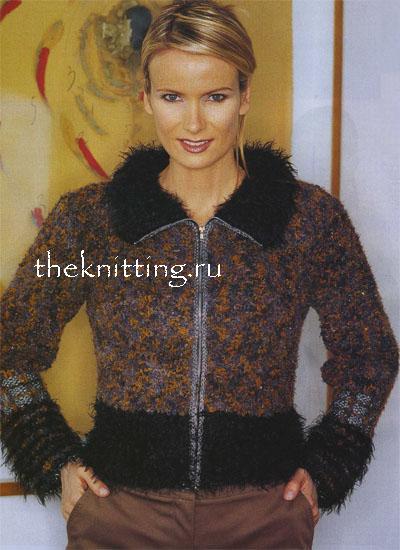 Комментарий: вязание спицы кофты на зиму.