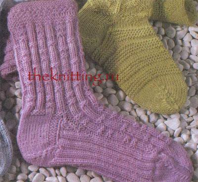 Вязание спицами носки схемы