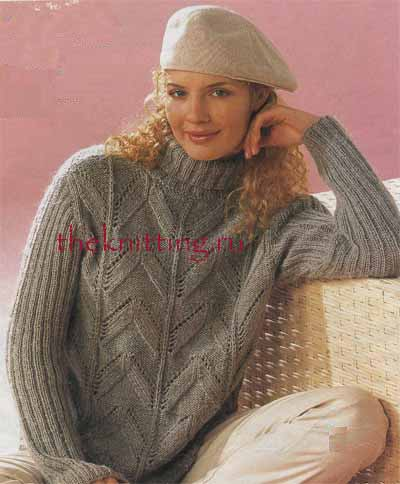 вязание спицами зима свитера женские