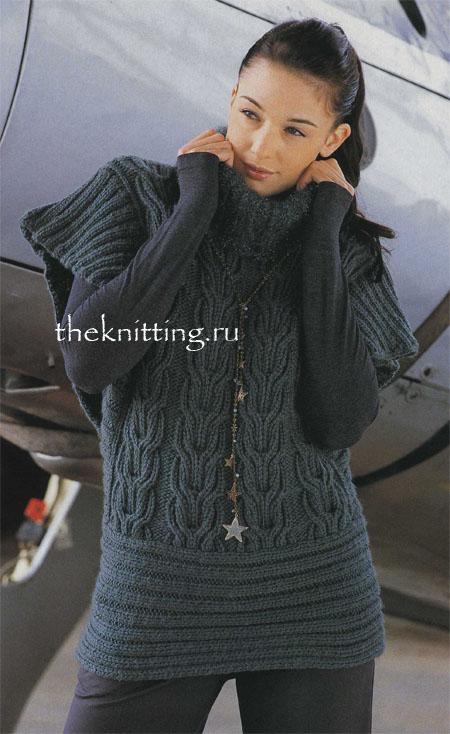 Вязание спицами туники платья
