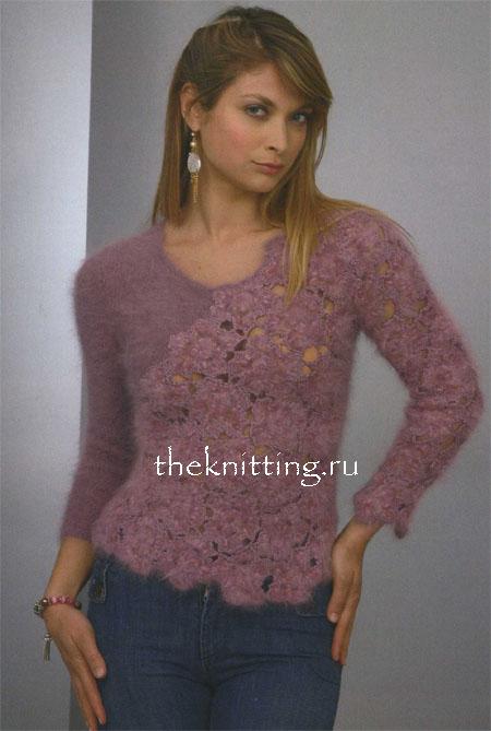 Вязание свитеров с описанием