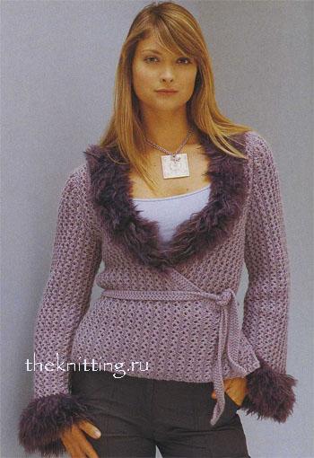 Вязание спицами кофты женские